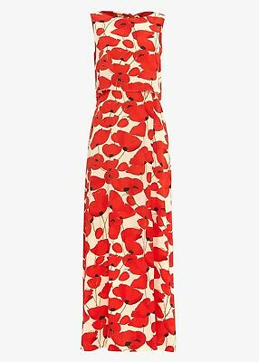 £16 • Buy Phase Eight Red Poppy Maxi Dress Size 18