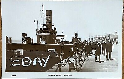 £7 • Buy Luggage Boats At Landing Stage, Liverpool. Real Photographic Postcard.