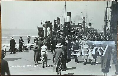 £7 • Buy Landing Stage, Liverpool. Real Photographic Postcard.