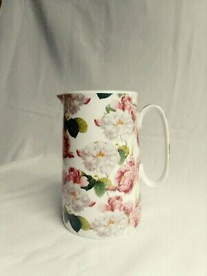 £7.40 • Buy Heron Cross Pottery 1876 Jug, Pink And White Floral
