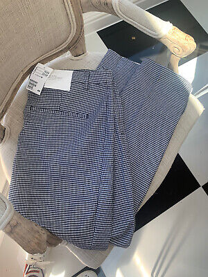 £9.99 • Buy H&M Houndstooth Checked Black And White Stretch Trousers UK 16/18