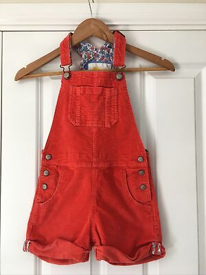 £3.10 • Buy Mini Boden Girls Short Dungarees, Coral, Age 6-7 Years, Excellent Condition