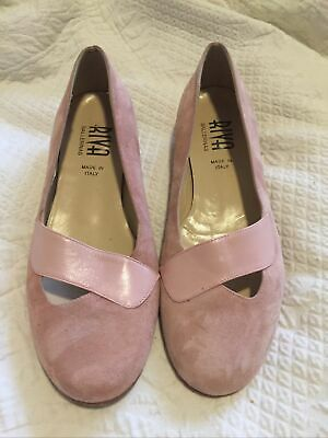 £5 • Buy Womens Riva Ballerinas Pink Suede Shoes Size 39