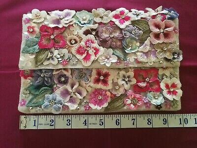£15 • Buy Monsoon Accessorize Stunning Flower Embroidery Bead Clutch Bag, Chain Strap BNWT
