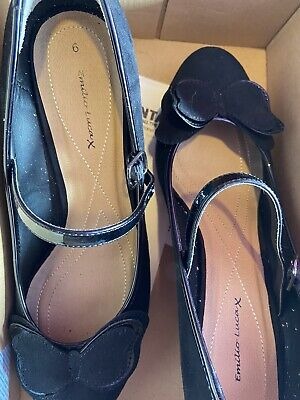 £5 • Buy Emilio Luca X Womens Black Heel Court Shoes Size 6 With Strap Fastening