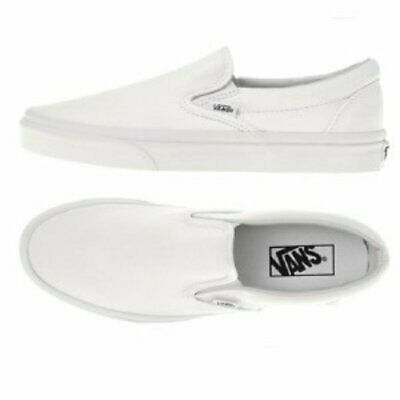 £22.99 • Buy VANS Classic Slip On White TRAINERS. Size 7.5