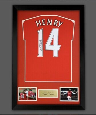 £499.99 • Buy Thierry Henry Hand Signed Arsenal Football Soccer Home Shirt Jersey & COA