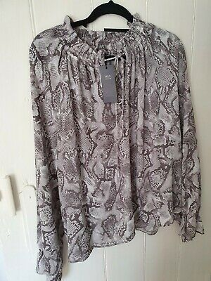 £4 • Buy M&S Collection Plus Size 24 Snake Skin Print Blouse