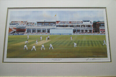 £20 • Buy Grace Road Leicestershire Framed & Signed Terry Harrison Cricket Print