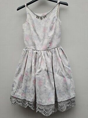 £8 • Buy Womens River Island Floral Rose Sparkly Glittery Sequin Jewellery Dress Size 8