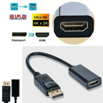 £3.09 • Buy DP Male To HDMI Female Adapter Converter For 1080P HDTV PC UK 4K HD Display Port