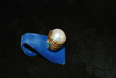 $475 • Buy Fine 14K Large Mabe Pearl Statement Ring