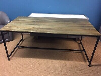 £179 • Buy Made.com Lomond Industrial Style Dining Table In Solid Mango Wood