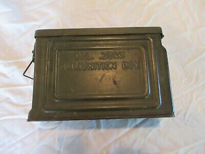 $49.99 • Buy Vintage US WWII Metal 30 Cal. M1 Ammo Ammunition Can Box Flaming Bomb Reeves