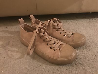 £3 • Buy Ladies Peach Pink Lace Up Trainers Size UK 5 Primark