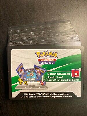 $12.59 • Buy 70 TCG Pokemon Online Code Cards Unused Lot Mixed QR Code Cards