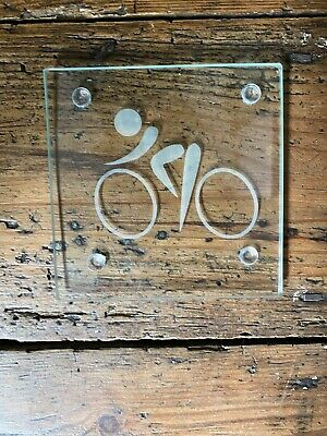 £4.75 • Buy Personalised Cycling Glass Coaster Logo Custom Etched Gift