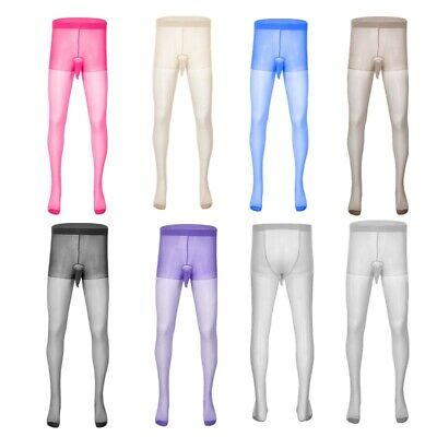 $9.68 • Buy US Men Sissy Lingerie See Through Pantyhose Sheath Pouch Footed Tights Stockings