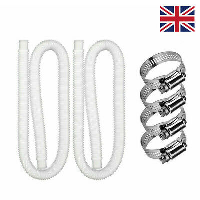 £11.29 • Buy 2 Sets Accessory Hose 32mm Swimming Pool Pipe X 1.5m Tool For Pump/Filter/Heater