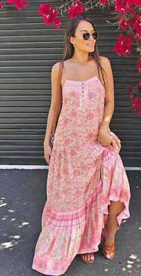 AU350 • Buy Spell Designs  POINCIANA Strappy Maxi DRESS Cotton Candy XS