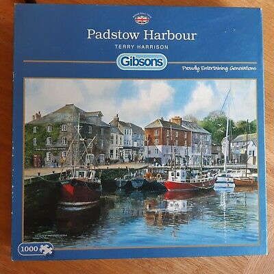 £5 • Buy Terry Harrison: Padstow Harbour: 1000 Piece Jigsaw Guaranteed Complete