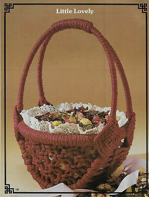 $11.99 • Buy Macrame Country Baskets Vintage Pattern Book 9 Projects