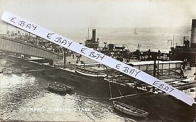 £8 • Buy The Landing Stage, Liverpool. Real Photographic Postcard.