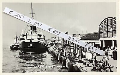 £8 • Buy IOM King Orry At Liverpool Landing Stage, Liverpool. Real Photographic Postcard.