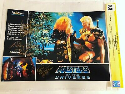 $1125 • Buy CGC 9.8 SS Masters Of The Universe Lobby Card Signed By Lundgren +3 MOTU 9x13