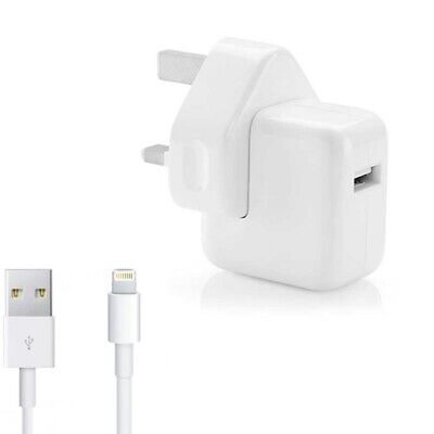 £4.99 • Buy GENUINE APPLE 10W UK CHARGER OR LIGHTNING CABLE FOR IPAD 5th/ 6th GEN IPAD AIR 2