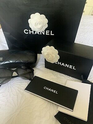 £175 • Buy Chanel Black Square Polarised Sunglasses Comes With Box, Bag And Case