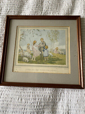 £10 • Buy Margaret Tarrant 'When All The World Was Young' Vintage Framed Print
