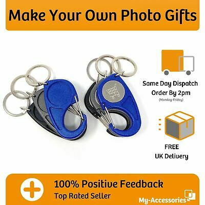 £3.60 • Buy Trolley Coin Keyring Carabiner  Snap Hook 25mm Photo Insert DIY Make Your Own