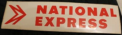 £0.95 • Buy National Express Coach Stop Sticker - Very Good Condition