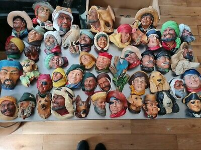 £80 • Buy 47 Vintage Bossons / Legend Chalkware Sculpture Chalk Heads Wall Plaques Ornate