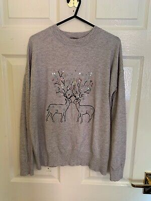 £7.99 • Buy Grey Reindeer Oasis Jumper Size Small (A6641)