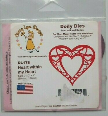£3.99 • Buy Cheery Lynn - Heart Within Heart Cutting Die - DL178 - Craft Room Clear Out