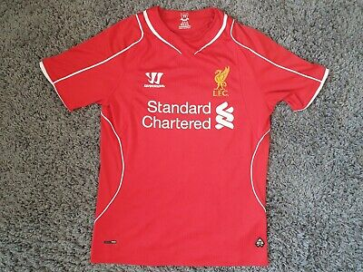 £11.50 • Buy Liverpool FC, Warrior Home Shirt, 2014/15, Size Small