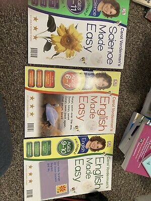 £2.99 • Buy Carol Vorderman Bundle Of 3 Books. Science. English And Maths Made Easy