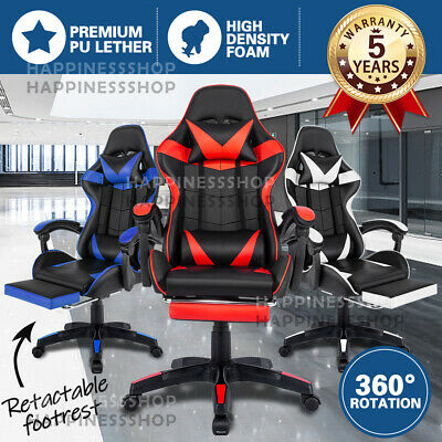 AU88.99 • Buy Gaming Chair Office Chair Computer Executive Chairs Seating Footrest Racer