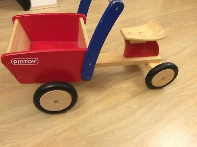 £20 • Buy John Crane Pintoy Sit Ride Ride-on Wooden Cargo Truck Toddler Play Collect Only