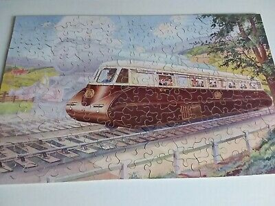 £39 • Buy Chad Valley GWR Wooden Jigsaw Puzzle. The Streamline Way. 200 Pieces. Complete.