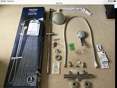 £280 • Buy GROHE 27296001 Euphoria 180 Thermostatic Shower With Bar Shower Mixer