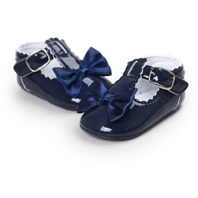 £6.75 • Buy Newborn Baby Girls Shoes PU Leather Bow Buckle First Walkers Soft Soles Shoes