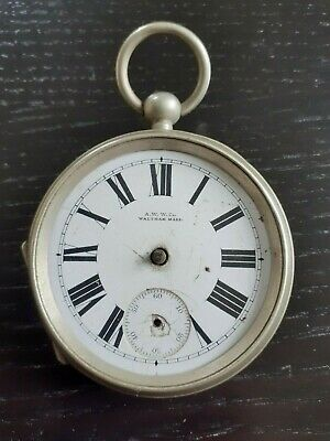 £1 • Buy Waltham Antique Key Wind Pocket Watch For Spares / Repair