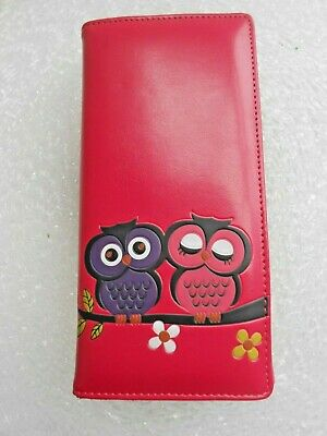 £3.49 • Buy Ladies Pink Owl Purse/Wallet. Brand New! 2 Cute Owls On The Front. Uk