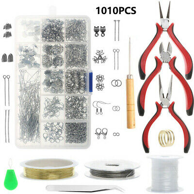 £5.49 • Buy Jewellery Making Findings Kit Wire Pliers Set Handcrafted Necklace Tools UK