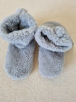 £11.50 • Buy Ex M&s Grey Soft Cosy Faux Fur Lightweight Slipper Boots - Size 6-8