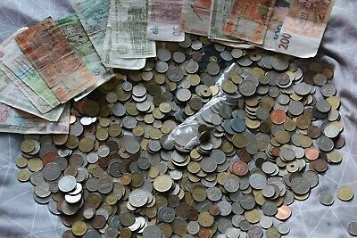 £26.30 • Buy Approx 5kg Coins Collection/joblot. Banknotes, Tokens, Mostly Old Foreign Coins.