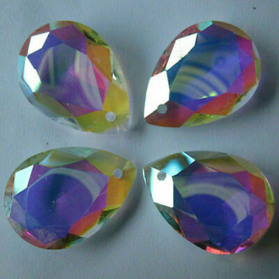 £2.32 • Buy 10Pcs Clear Cut Glass Crystals Beads Chandelier Light Parts Prisms Bling Drops